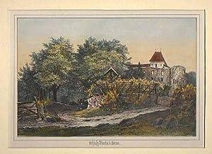 ITALIEN: MERAN/ SÜDTIROL: Schloß Planta ---- um 1860, Lithographie, dekorativ ...
