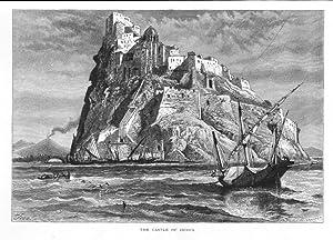 ITALIEN: ISCHIA/ NEAPEL: Schloß *** um 1870,: Fenn/ Whymper