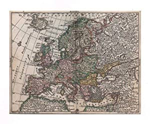 EUROPA *-* Europa, altkolorierter Kupferstich von Tobias: Tobias Lobeck bei