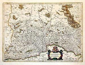 OBERPFALZ *-* Palatinatus Bavariae, altkolorierter Kupferstich von: Mercator/ Janssonius
