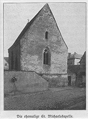 IPHOFEN/ Steigerwald: Ehemalige Sankt-Michaelskapelle *-* um 1911, Photodruck, 9x7 cm