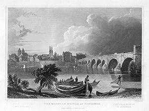 KOBLENZ: Moselbrücke und Altstadt *-* um 1835, Stahlstich, 11x15 cm: Palmer