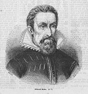 Kepler Johannes ---- Holzstich, um 1870, 14x13 cm