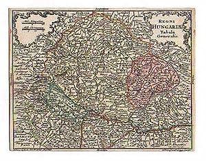 UNGARN *-* Regni Hungariae Tabula Generalis, altkolorierter: Tobias Lobeck bei