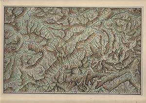 OBERINNTAL - ENGADIN *** Kupferstich, um 1800, Mittelpunkt: das Inntal von Silvaplana bis Zirl, ...