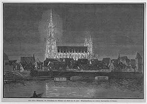 ULM/ Donau: Münster und Altstadt während der: E. Limmer