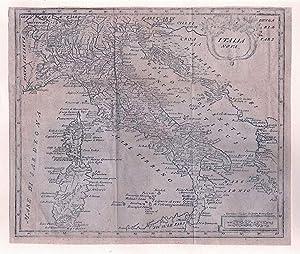 ITALIEN *-* Italia Nova, Kupferstich aus: Introductio: Martinus Hailler/ Philipp