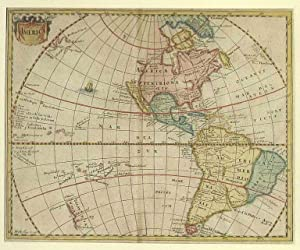 AMERIKA *-* America, Nord- und Südamerika, Kupferstich: Mösting/ Philipp Cluver
