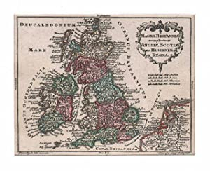 GROSSBRITANNIEN *-* Magna Britannia complectens Angliae, Scottiae: Tobias Lobeck bei