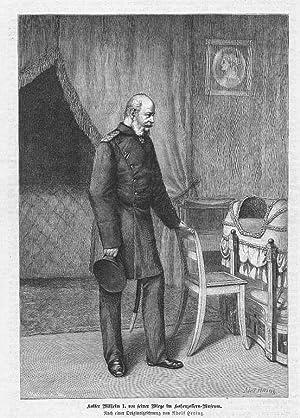 Wilhelm I. Kaiser vor seiner Wiege im: Hering