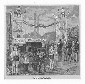 MULDE/ Sachsen-Anhalt: Hochofenanlage Muldenhütte *** um 1880,: Paul Heydel
