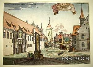 NÜRNBERG: Altstadt mit dem Weißen Turm der Jakobskirche und der Elisabethenkapelle am ...