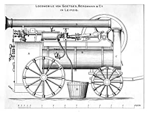 Eisenbahn: Locomobile von Goetges, Bergmann & Co.