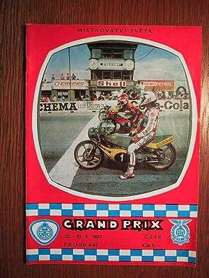 31. Grand Prix CSSR - Motorräder -: Automotoklub Svazarmu Brno