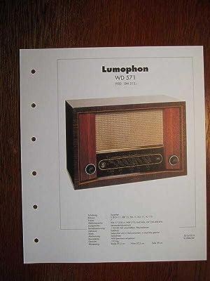 Archiv des RundfunkMuseums - Lumophon WD 571: Deutsches Rundfunk-Museum e.V.