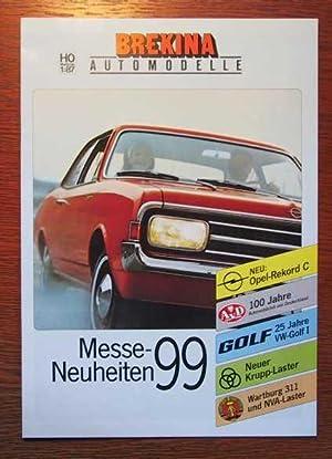BREKINA - Automodelle - Messe-Neuheiten 1999 -: BREKINA Modellspielwaren Teningen