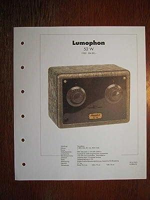 Archiv des RundfunkMuseums - Lumophon 52 W: Deutsches Rundfunk-Museum e.V.
