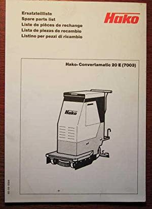 hako ersatzteilliste f r hako convertamatic 20 e 7003. Black Bedroom Furniture Sets. Home Design Ideas