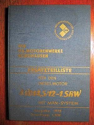 Ersatzteilkatalog für den Dieselmotor 4 VD 14,5/12-1: VEB IFA Motorenwerke
