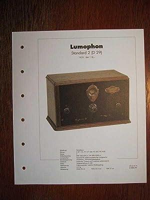 Archiv des RundfunkMuseums - Lumophon Standard 2: Deutsches Rundfunk-Museum e.V.