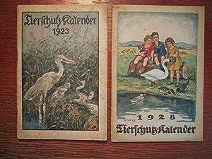 Tierschutz-Kalender 1923 und 1928.: Berliner Tierschutz-Verein und