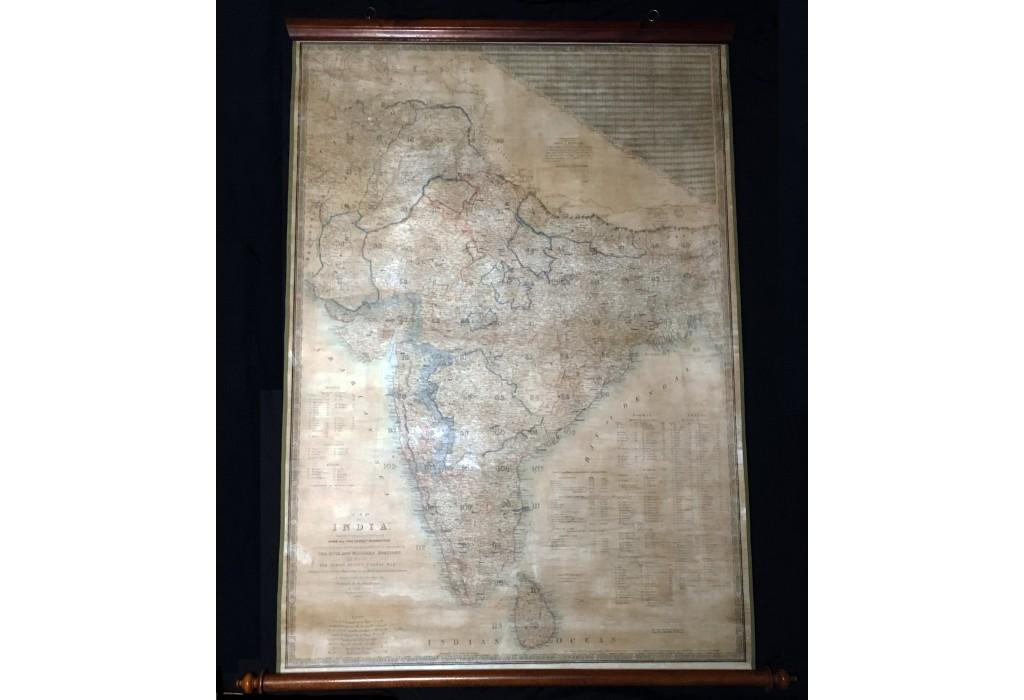 INDIA: MAP OF INDIA CONSTRUCTED WITH GREAT: James WYLD the