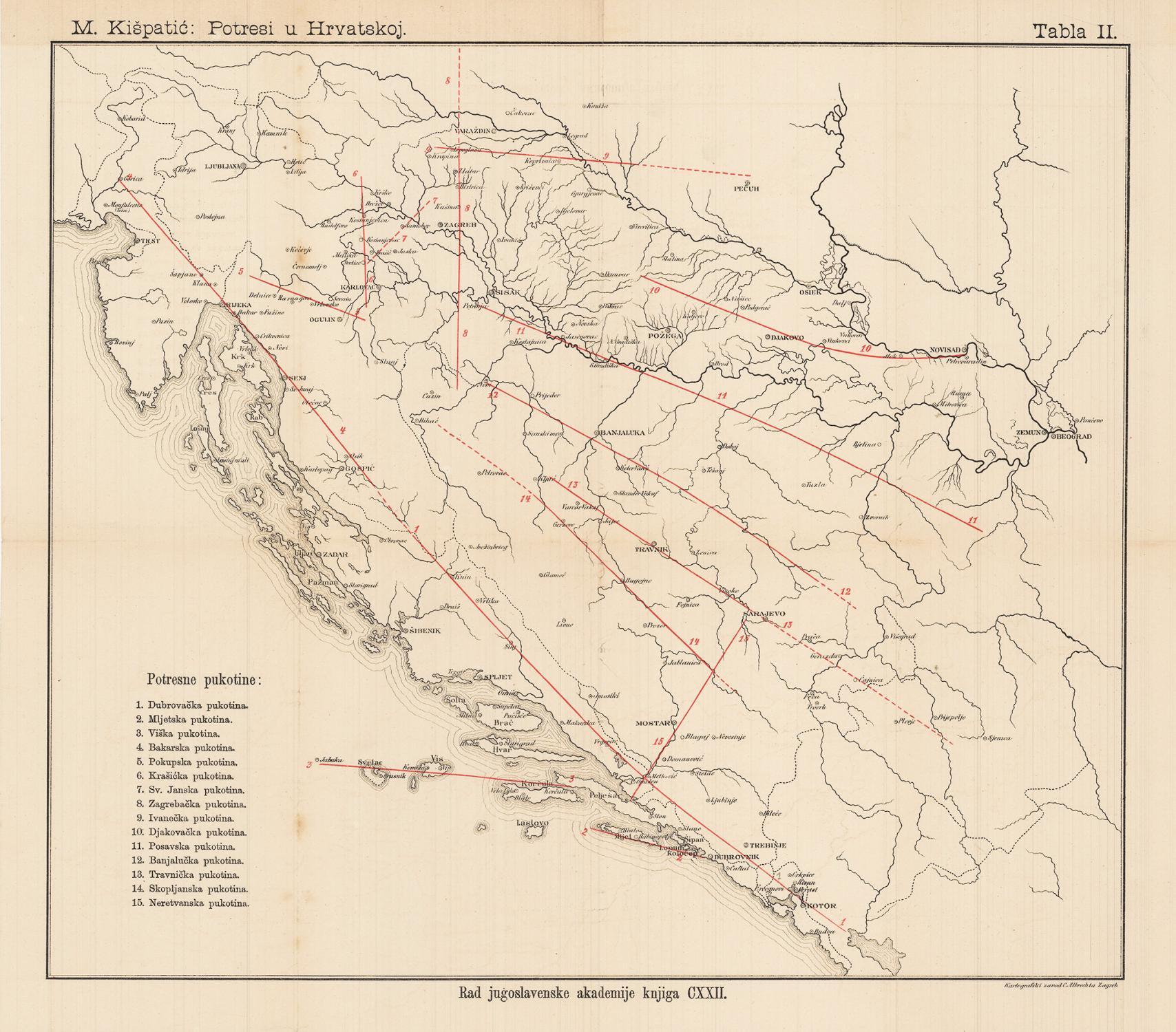 CROATIA / BOSNIA EARTHQUAKE MAP: M. Kispatic...