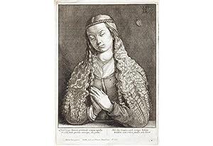 WENZEL HOLLAR - ALBRECHT DÜRER: Jungfrau mit: Albrecht DÜRER (1471