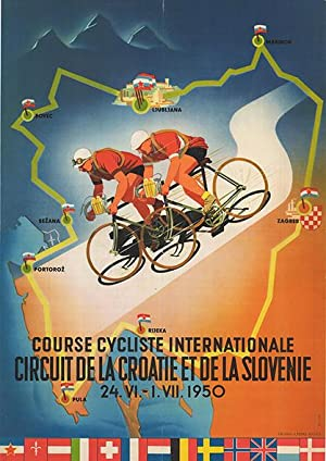 Course cycliste internationale circuit de la Croatie et de la Slovenie 24. VI. - 1. VII. 1950.