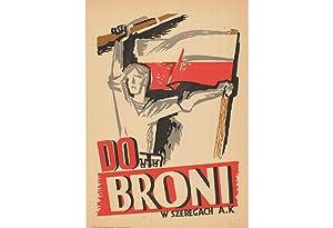 WARSAW UPRISING PROPAGANDA POSTER: DO BRONI, W: Edmund BURKE (1912