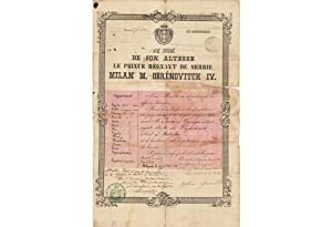 OTTOMAN EMPIRE - SERBIA -RUSSIA: Travel Documents