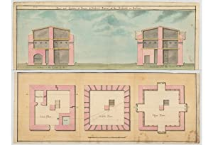 SOUTH AFRICA   CAPE TOWN FORTIFICATIONS   THE PRINCE OF WALES BLOCKHOUSE   ORIGINAL MANUSCRIPT PLANS