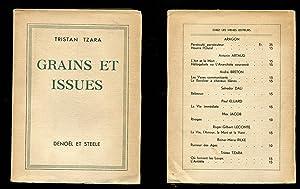 Grains et issues.: Tzara, Tristan