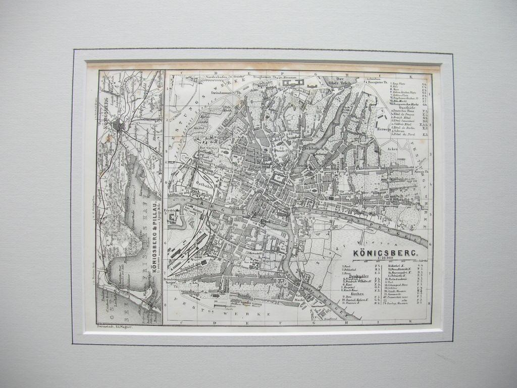 Stadtplan Von Konigsberg 1 20 000 Mit Einer Teilkarte