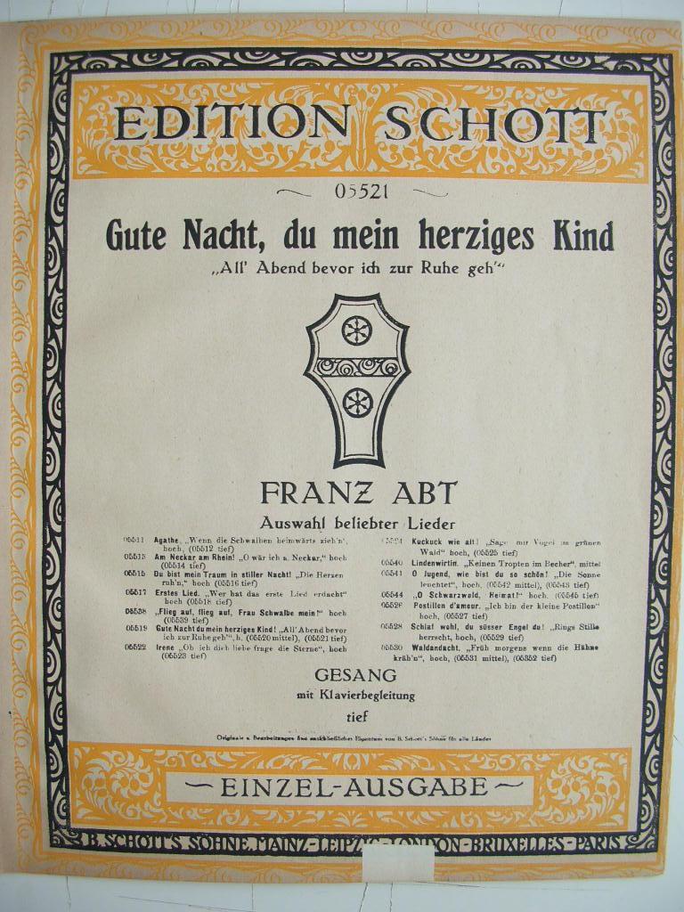 Ausgewählte Lieder Mezzo-sopran Oder Bariton Band 1 Franz Abt Abt Album.