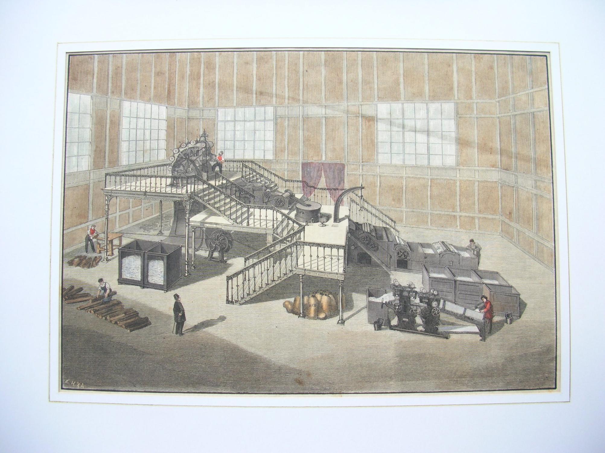 "Holzpapierstoff- (Holzzeug-) Maschine."" Patent H. Völter //: Papier /Papierherstellung)"