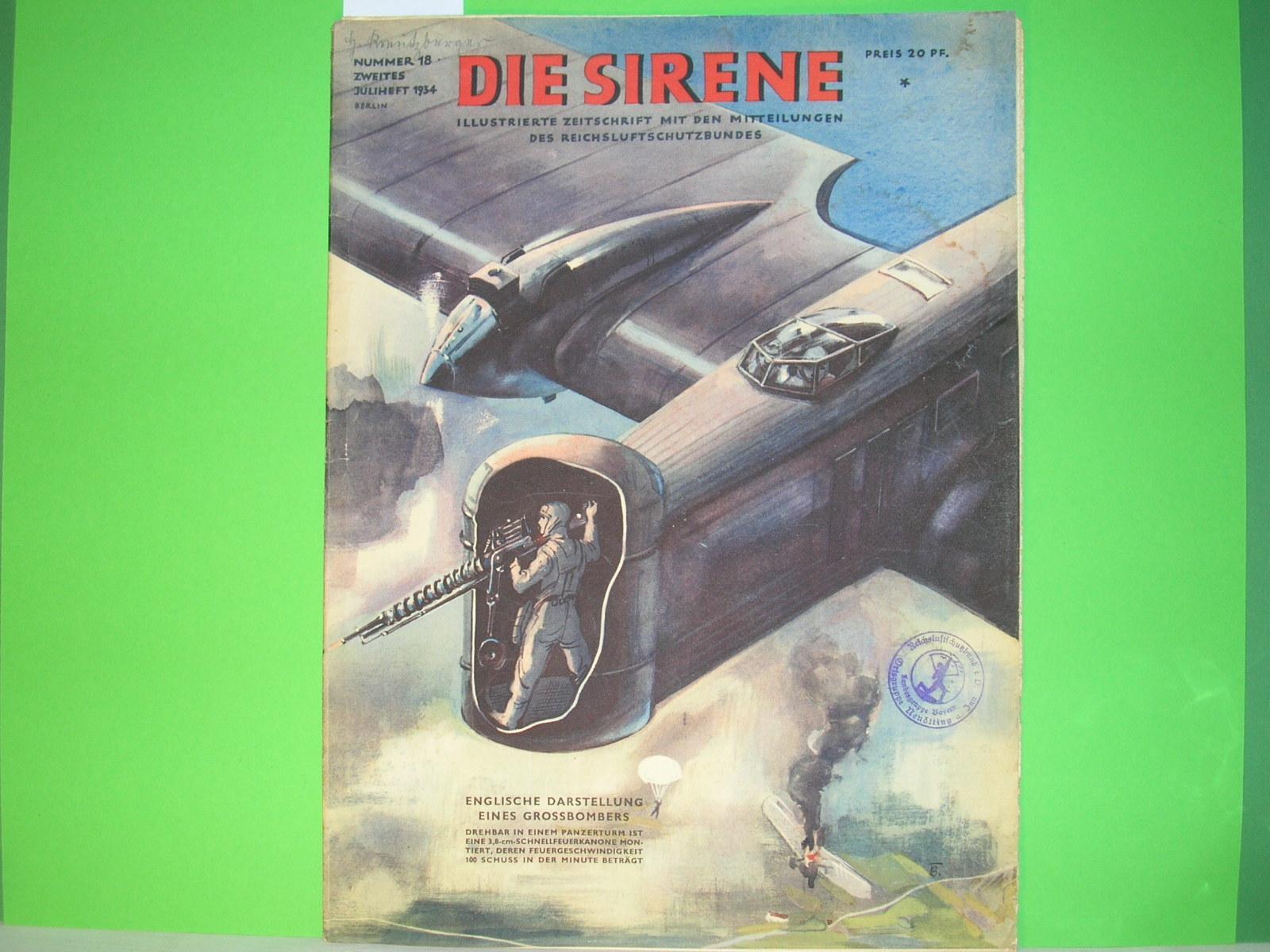 """Die Sirene"""" - Nr. 1, 1941 (Hg.: Zeitschriften im Nationalsozialismus"""