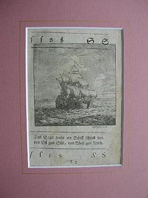 """Buchstabe S : """"Das Segel treibt ein Schiff schnell fort; von Ost gen Süd, von West gen ..."""