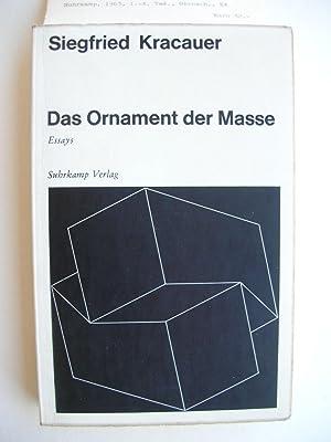 Das Ornament der Masse. Essays. //: Kracauer, Siegfried :