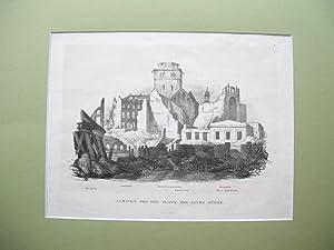 """Ansicht von dem Platz der alten Börse"""" (lith. Ansichten vom großen Hamburger Brand ..."""