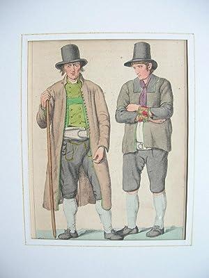 """Bauer aus dem Pongau. Pinzgauer."""" (im Salzburgischen). //: Pongau / Pinzgau - Tracht"""
