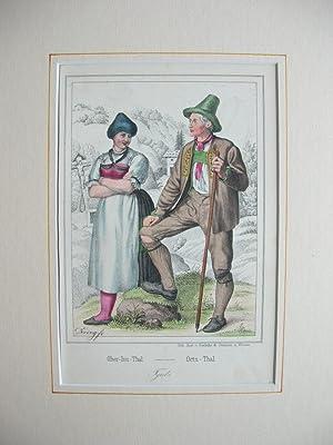 "Ober-Inn-Thal / Oetz-Thal."" (Tirol). //: Oberinntal/Ötztal - Tracht"