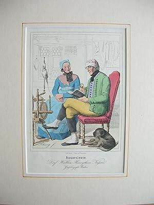 """Bauersleute. Dorf Wallau, Herzogthum Nassau, Großherzogth. Baden."""" //: Nassau ..."""