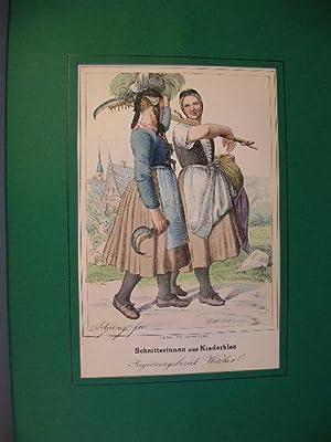 """Schnitterinnen aus Niederklee, Regierungsbezirk Wetzlar"""". //: Wetzlar / Niederklee -..."""