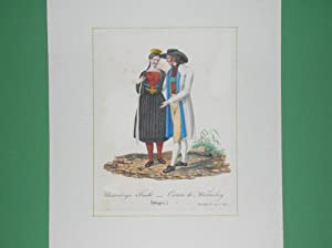 "Würtemberger Tracht - Costume de Würtemberg"". (Junges Paar in Tracht). //:..."