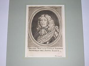 """Odoardo Montagu Conte di Sandwich, Ammiraglio della Flotta Inglese."""" (Brustbild nach ..."""