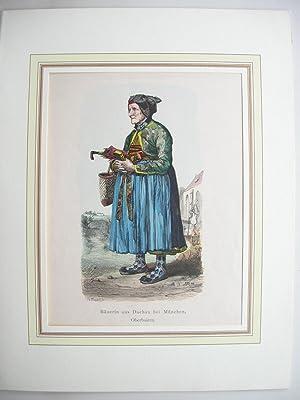 "Bäuerin aus Dachau bei München, Oberbaiern."" //: Dachau - Tracht):"