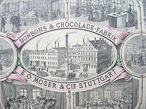"""Bonbons & Chocolade-Fabrik E. O. Moser & Cie., Stuttgart."""" //: Schokolade)"""
