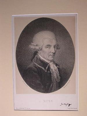 Brustbild nach viertelrechts. //: Joseph Haydn (1732 - 1809):
