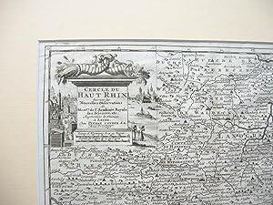 """Cercle de Haut Rhin """" //"""": Karte von Hessen und angrenzende Gebiete) -"""